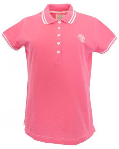 Růžové polo triko Wimbledon