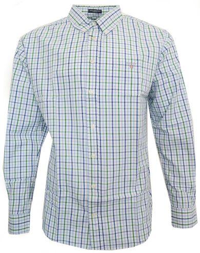 Pánská košile GANT - modro/zelené pruhy