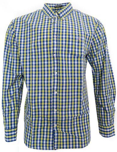 Pánská košile GANT modro/žluté kostky