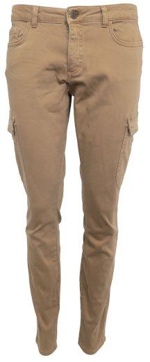Hnědé kalhoty s kapsami na nohavicích YAYA