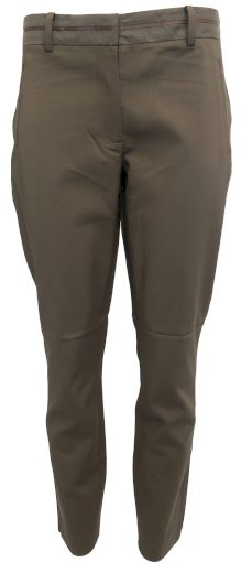 Plátěné kalhoty s pevným pasem YAYA