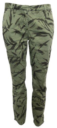 Zelené kalhoty s lístky YAYA