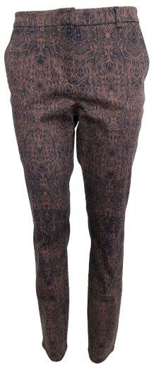 Kalhoty s hnědým vzorováním YAYA