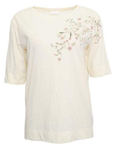 Krémové tričko YAYA s květy
