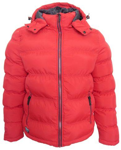 Červená bunda Scott s kapucí