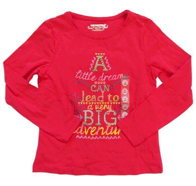 Dívčí červené tričko Orchestra