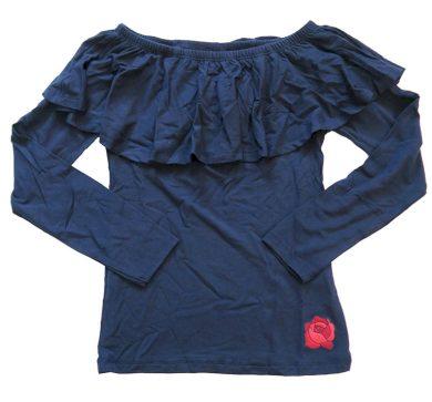 Dívčí modré triko s volánkem Orchestra