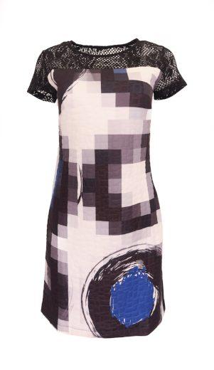 Desigual černé šaty s krajkou