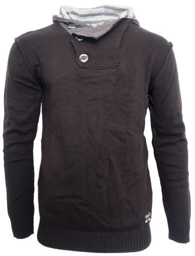 Černý svetr s kapucí Cibo & Baxx