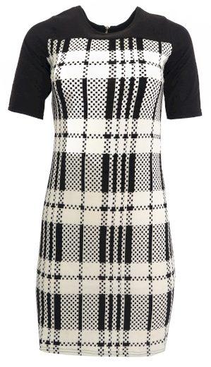 Kostkované černobílé šaty Smashed Lemon