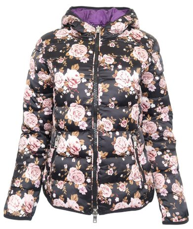 Černá květovaná bunda Silvian Heach
