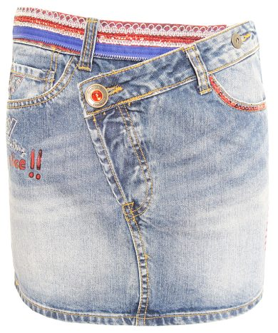 Desigual riflová sukně s flitry