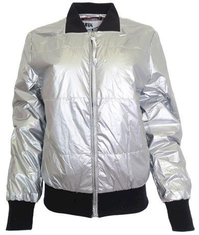 Stříbrná bunda PUFFA