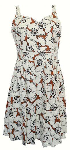 Široké šaty s květy Sandro Ferrone