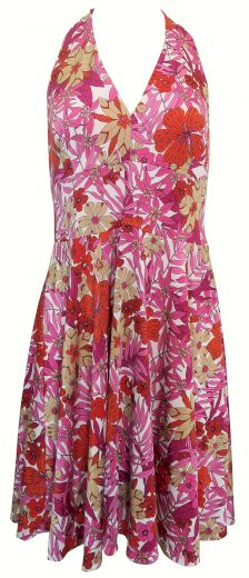 Červenorůžové šaty s květy Sandro Ferrone