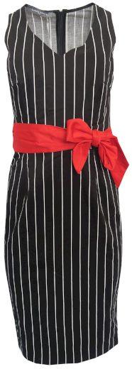 Pruhované šaty s červeným páskem Sandro Ferrone