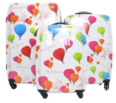 Skořepinové kufry s balónky Borderline