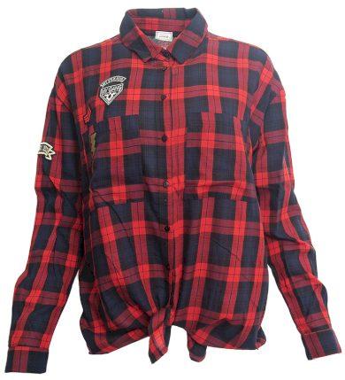 Červená károvaná košile Pimkie