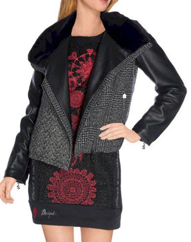 Dámská bunda s kožíškem Desigual
