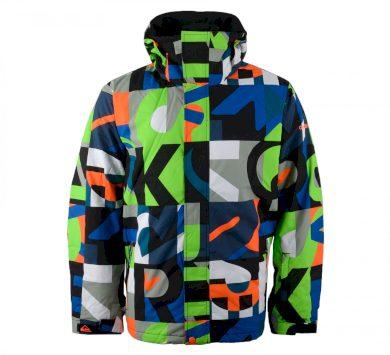 Výrazná vzorovaná bunda na lyže Quiksilver