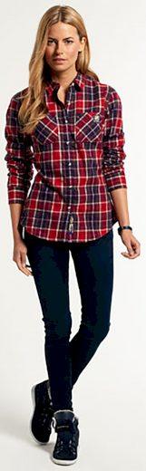 Barevná kostkovaná košile Superdry