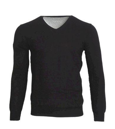 Černý svetr s výstřihem Pepe Jeans