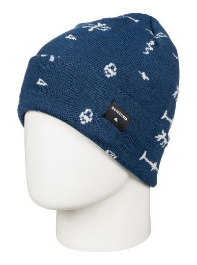 Modrá čepice s potiskem Quiksilver