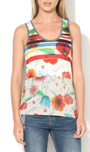 Tílko s barevnými květy Desigual 73T25J2/2042