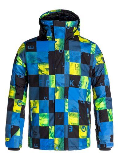 Lyžařská bunda s barevnými čtverci Quiksilver