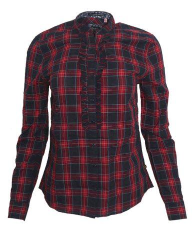 Kostkovaná košile s volánky Pepe Jeans