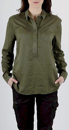 Khaki košile s kapsou Superdry