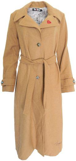 Hnědý dlouhý kabát Desigual