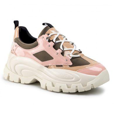 LIU JO Wawe 01- Sneaker Olive/Pink