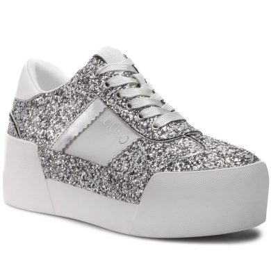 LIU JO Maxy 01 - Lace up Silver