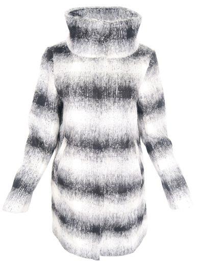 Černobílý kabát Silvian Heach