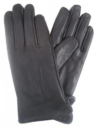 Kožené rukavice LIPSY černé
