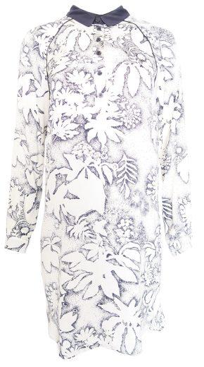 Košilové bílomodré šaty Kookai