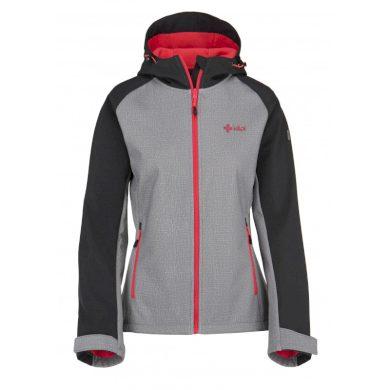 Kilpi Dámská outdoorová bunda Elia světle šedá + růžová