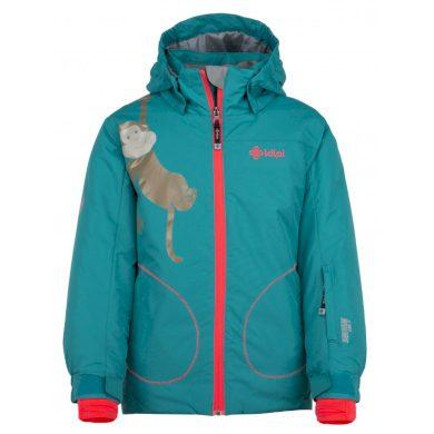 Kilpi Dětská lyžařská bunda Cindyg tyrkysová