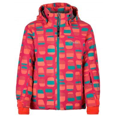 Kilpi Dětská lyžařská bunda Genovesag tmavě růžová