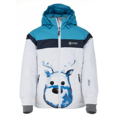 Kilpi Dětská lyžařská bunda Synthiag bílá