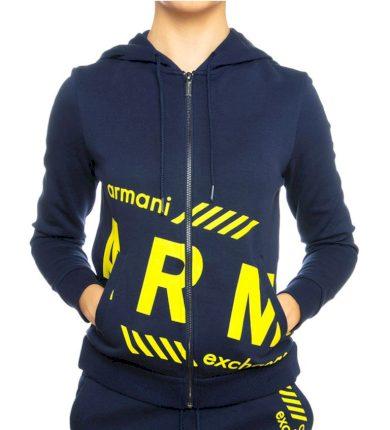Mikina Armani Exchange blue 3GYM72 YJX1Z