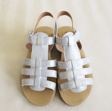 Dívčí boty-sandály stříbrné Orchestra
