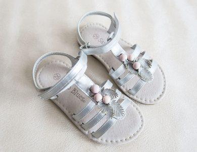 Dívčí stříbrné sandály Orchestra