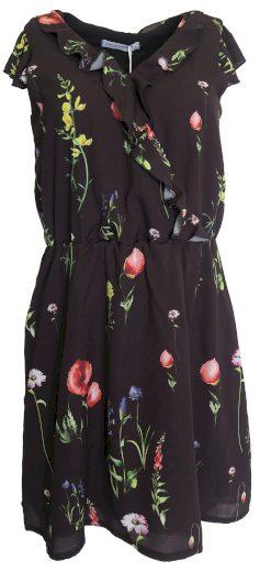 Černé šaty s barevnými květy Rinascimento