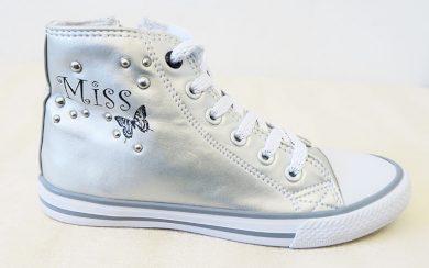 Dívčí boty stříbrné Miss Orchestra