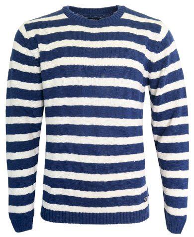 Modrobílý pruhovaný svetr Gant