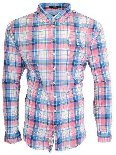 Růžovo-modrá károvaná košile Gant
