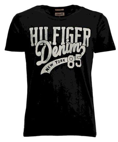 Černé tričko HILFIGER DENIM by Tommy Hilfiger