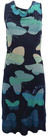 Desigual barevné šaty s motýly